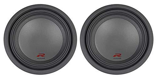 (2) Alpine R-W12D2 12' 1500w RMS R-Series Dual 2-Ohm Car Audio Subwoofers Subs