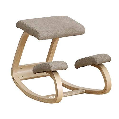 Kneeling Chair,A Fully Adjustable Mobile Office Chair,A Balanced Knee Stool That Improves Posture And Relieves Neck And Back Pain,Gray