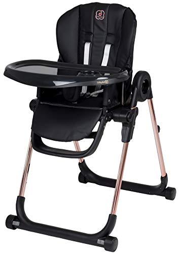 Babygo Divan Hochstuhl, Sitzhöhe in 6 Positionen verstellbar, mit Sicherheitsgurt und abnehmbare Abdeckung, Gold