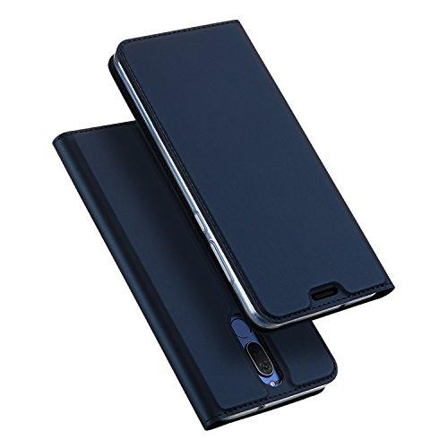 DUX DUCIS Hülle für Huawei Mate 10 Lite, Leder Klappbar Handyhülle Schutzhülle Tasche Hülle mit [Kartenfach] [Standfunktion] [Magnetisch] für Huawei Mate 10 Lite (Blau)
