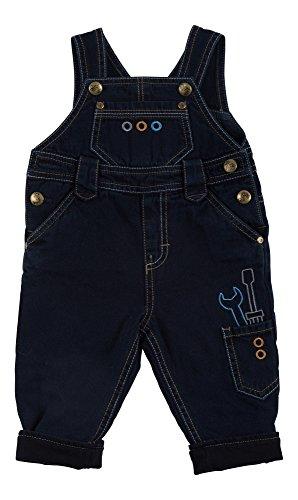 Sigikid Jungen, gefüttert, Baby Latzhose, Blau (Denim Blue Black 271), 62