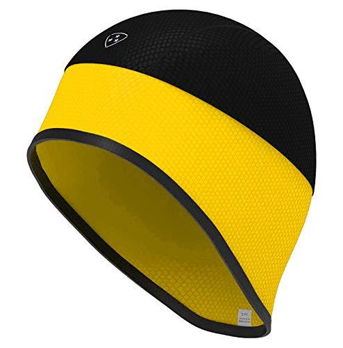 DHERA Thermo-Kappe für Fahrradhelm, mit Totenkopf-Motiv, Herren, gelb, m