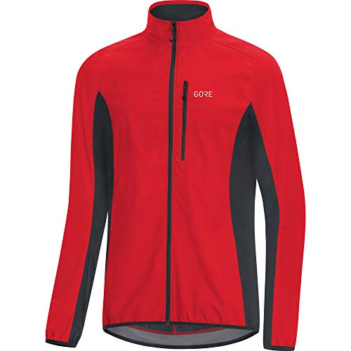 GORE Wear C3 Herren Jacke GORE WINDSTOPPER, XL, Rot/Schwarz