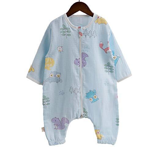 Sac De Couchage Safe Sleep Baby 1-3 Ans, Gaze Imprimée, Jambes Fendues, Manches Longues, Doux Pour La Peau, Protection Contre Les Coups De Pied
