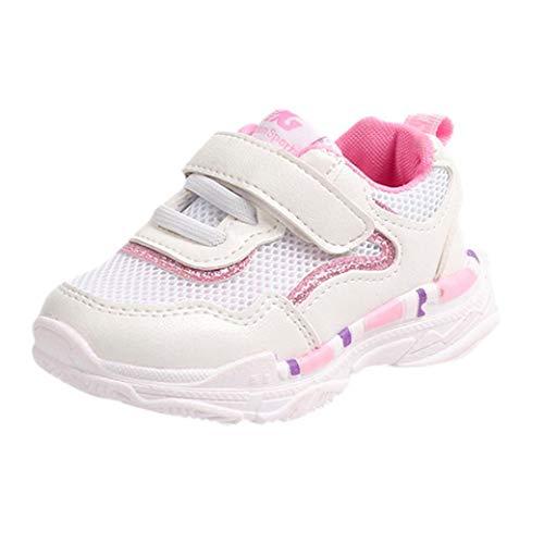 FeiliandaJJ Babyschuhe Kleinkind Jungen Mädchen Kinder Casual Turnschuhe Mesh Weichen Laufenden Brief Schuhe (EU:23(14.5cm), Rosa)