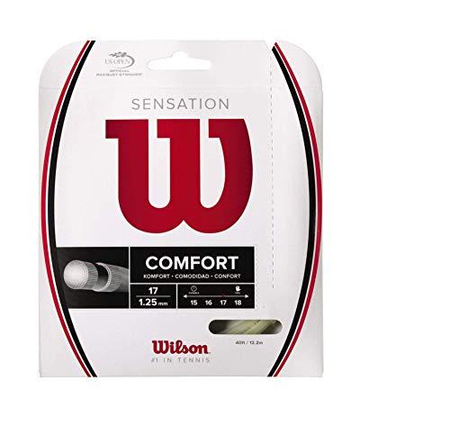 Wilson WRZ941100 Corda da Tennis Sensation, 12.2 m, Unisex, Natural, 1.25 mm