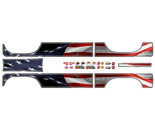 East Coast Vinyl Werkz Body Decal Sets for Element RC Enduro Sendero 1/10 Scale Radio Controlled Rock Crawler (American Flag)