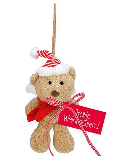 STEINBECK Weihnachtsplüsch Nikolaus Weihnachten Plüsch Bär Teddy Schutzengel Befüllung Adventskalender Geschenk süß Mitgebsel Merry Christmas Wichtelgeschenk Weihnachtsgeschenk