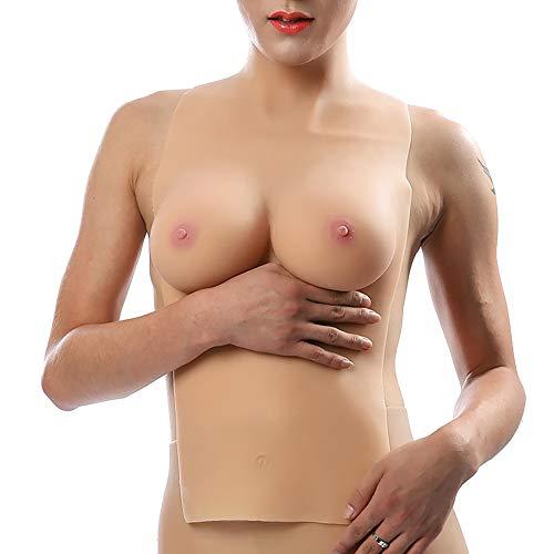 TYXHZL Shemale Crossdresser Verkleidung halblange Feste Brüste Anime große Brust gefälschte Brustkissen Cosplay Kostüm
