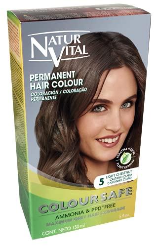 Naturaleza Y Vida Coloursafe Tinte Permanente Tono 5 Castaño Claro - 150 ml