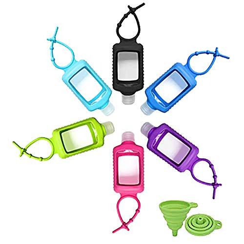 6 Stück 60 ml transparente Reiseflaschen aus Kunststoff, leer, auslaufsicher, nachfüllbare Behälter, ideal für Reisen, Outdoor, Schule
