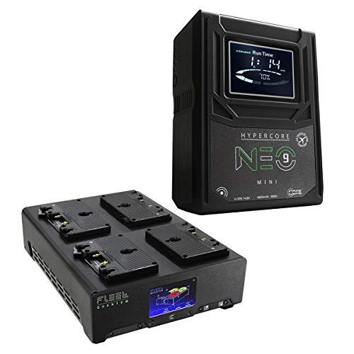 Core SWX 4X Hypercore NEO 9 Mini 98Wh 14.8V 6.6Ah V-Mount Lithium-Ion Batteries, Bundle 4-Position V-Mount Charger