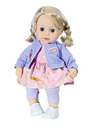 Zapf Creation 702970 Baby Annabell Little Sophia Puppe mit Haaren und Schlafaugen, 36 cm