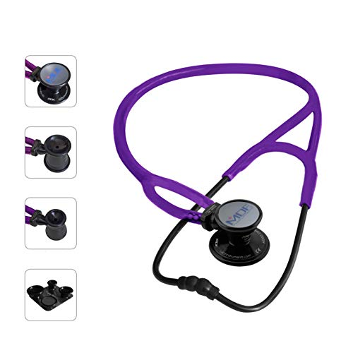 MDF® ProCardial ERA Cardiology Lightweight Dual Head Stethoscope with Adult, Pediatric, and Infant-Neonatal Convertible chestpiece - Purple (MDF797X-08)
