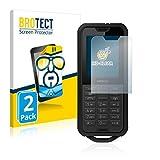 BROTECT Schutzfolie kompatibel mit Nokia 800 Tough (2 Stück) klare Bildschirmschutz-Folie