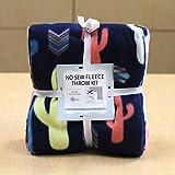 Cactus No-Sew Throw Fleece Fabric Kit (72x60)