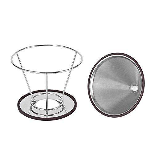 Doitsa Kaffeefilter Edelstahl Handfilter Permanentfilter Wiederverwendbar Kaffee Tropfer Filter/Teefilter Geeignet für 1 bis 4 Tassen Kaffee 120mm Durchmesser