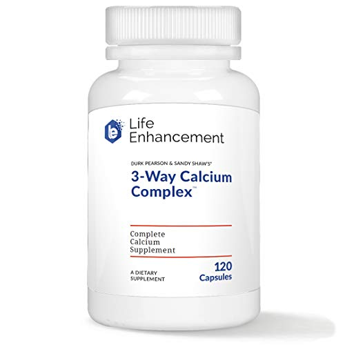Life Enhancement 3-Way Calcium Complex | 275 mg Calcium, 2494 IU Vitamin A, Vitamin C, and 200 IU Vitamin D3 | 120 Servings
