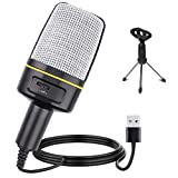 Multipurpose Condenser Microphones USB,Recording Microphone for Games and Singing,Podcast Microphone for Vocal,PC mic,Music Microphone Recording for Computer