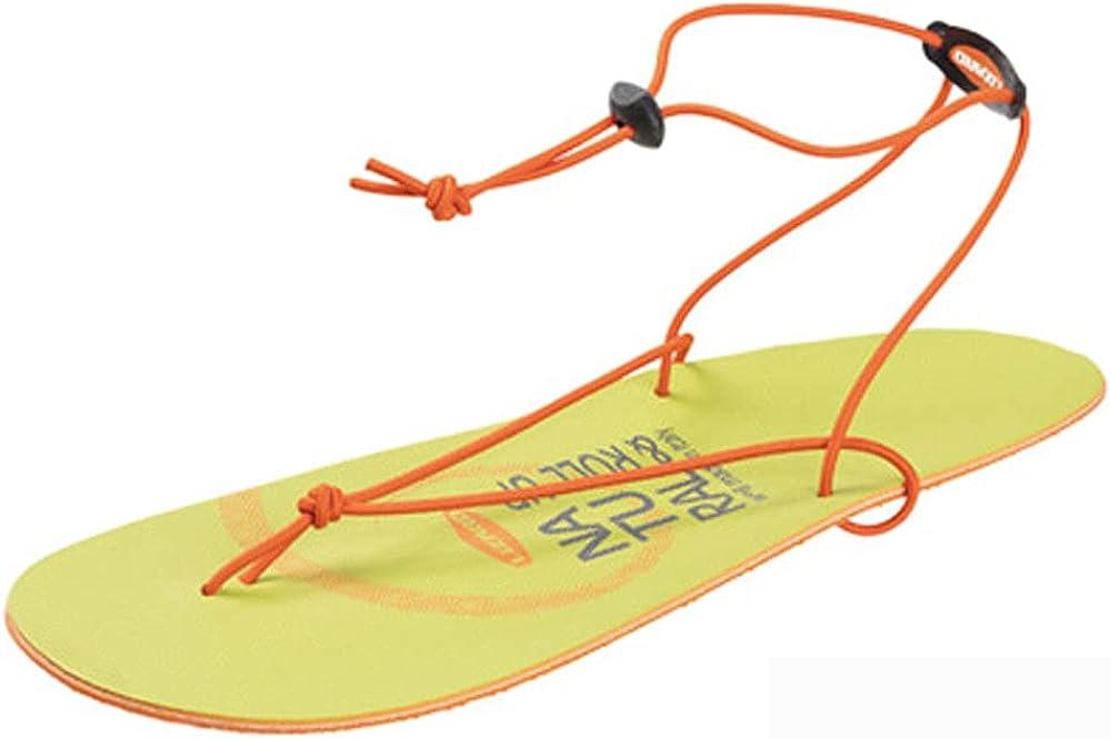 Lizard Roll Up, Flip Flop Sandals Made in Italy - 39 EU Orange