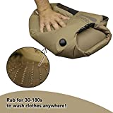 Scrubba Tactical Portable Wash Bag - Hand Washing Machine for Hotel & Travel - Light & Small Camping Laundry Bag for Washing Clothes in The Field