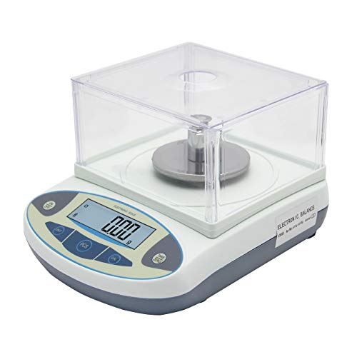 Bonvoisin Báscula de laboratorio Balanza Electrónica Analítica 0.01g Precisión Balanza Digital de Alta Precisión Balanzas para Joyería Balanzas de Oro Balanzas de Cocina con Parabrisas (3000gx0.01g)