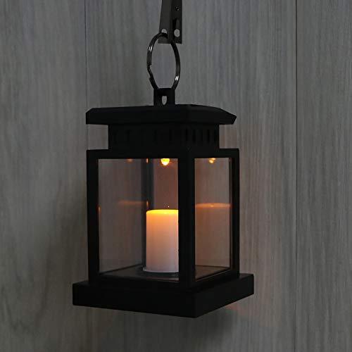 Solar Lantern, Blingbin Solar LED Candle Light, Waterproof Solar Candle Light for Outdoor Garden