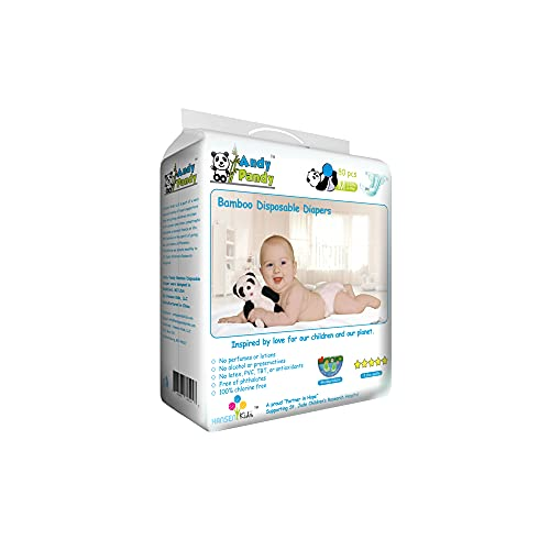 Product Image of the Eco Friendly Premium Bamboo Disposable Diapers by Andy Pandy - Medium - for...