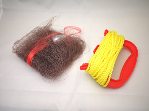 投げカニ網 茶色 ハンドル付 大漁釣具