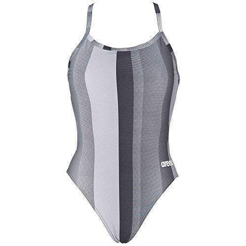 Arena Women's Blended Stripe One Piece Training Swim Suit Black