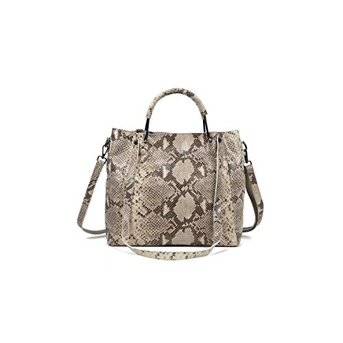 Va-Store Umhängetasche aus 100% echtem Rindsleder, Serpentin-Muster, geprägt, für Damen, Messengertaschen, 1 - Größe: Einheitsgröße