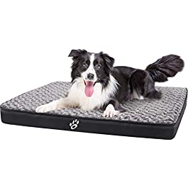 GoFirst Dog Beds Large Washable, Eggshell Foam Orthopedic Dog Bed with Removable Zipper Cover, Pet Bed Designed in Lining and Non-Slip Bottom