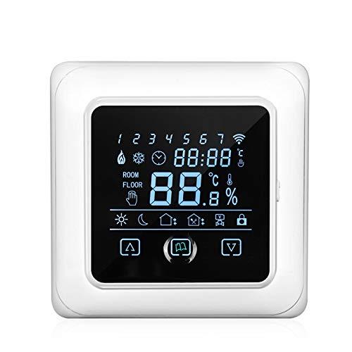 Kecheer Termostato WIFI suelo radiante electrico programable,Termostatos inteligentes wifi para suelo radiante 16A con pantalla táctil LCD