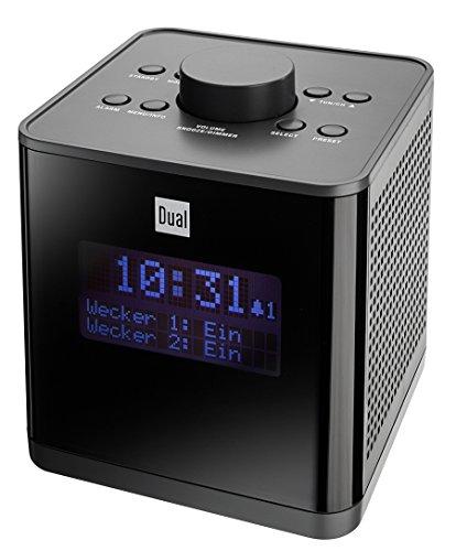 Dual DAB CR 29 Digitalradiowecker (DAB(+)/UKW, Senderspeicherfunktion, dimmbares LC-Display, Snooze/Weckfunktion) schwarz