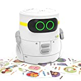 REMOKING STEM Educational Robot Toy,Dance,Sing, Guess Card Game, Speak Like You, Touch Control,Recorder,Interactive