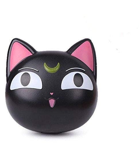 Lentillero estuche lentes de contacto diseño gato negro kit completo viajes, gimnasio, mochila, bolso, camping, fiesta pijamas, coche, todas las edades de CHIPYHOME