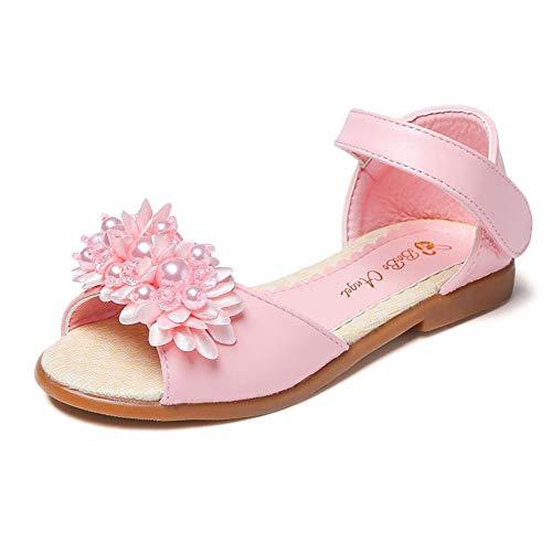 Sandalias Niña, Verano Zapatos Plano para Niños De Casual De Princesa Chicas Zapatos con Velcro para Niños