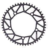 CLISPEED Corona per Bicicletta 50T Corona Larga Stretta Corona Singola Parti di Biciclette...