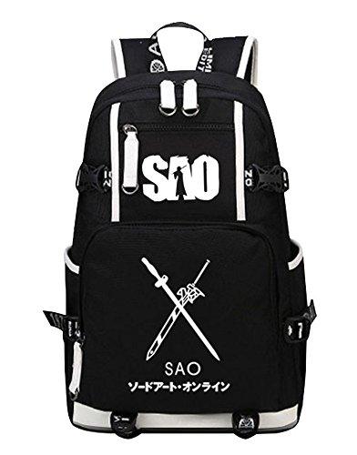 Siawasey Sword Art Online Cosplay Luminous Bookbag Backpack Shoulder Bag School Bag