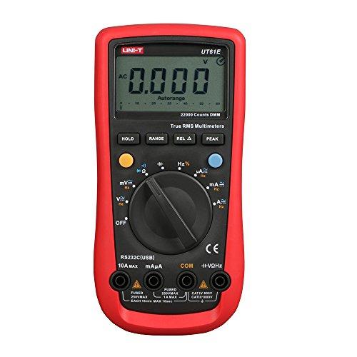 UNI-T UT61E Multimeter / Multitester, misst Gleichstrom / Wechselstrom, moderner digitaler Auto-Multimeter