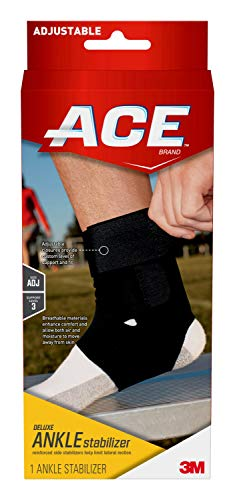 ACE Deluxe Ankle Stabilizer, Support to sprained or strained ankle, Satisfaction Guarantee, One Size Fits Most