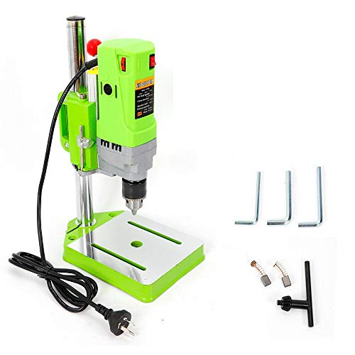 110V Mini Bench Drill Press Stand Electric Drilling Machine Portable Workbench Wood Drilling Machine Drill Chuck 1-13mm (710W-BG-5156E)