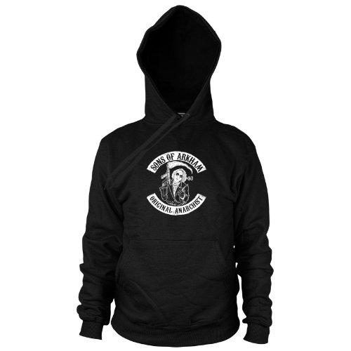 Planet Nerd Sons of Arkham - Herren Hooded Sweater, Größe: XXL, Farbe: schwarz