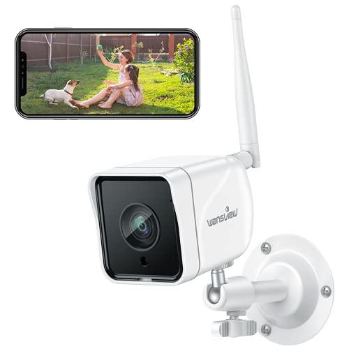 Wansview 防犯カメラ, 屋外監視カメラ,1080P 200万画素, WIFI ワイヤレス ネットワークカメラIPカメラ, 動...
