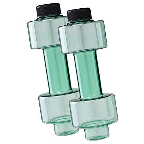 FUN FAN LINE - Confezione da 2 flaconi di Manubrio da Mezzo chilo, ognuno per Allenamento a casa, riempiti di Acqua per allenare la muscolatura servire Come Pesi. capacità 500 ml ciascuna.