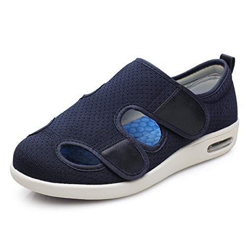 Zapatos ortopédicos quirúrgicos para Mujeres,Sandalias Ajustables de engorde, Zapatos valgus de Pulgar suelto-39_Blue, Ajustable de Velcro Zapatos