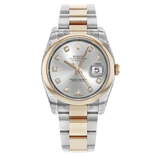 Rolex Datejust 11620118K oro rosa diamante argento quadrante automatico...