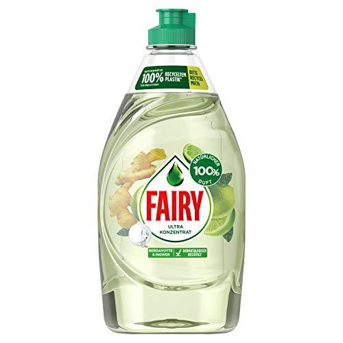 Fairy Naturals - Lavavajillas a mano con aroma 100% natural de bergamota e jengibre (444 g)