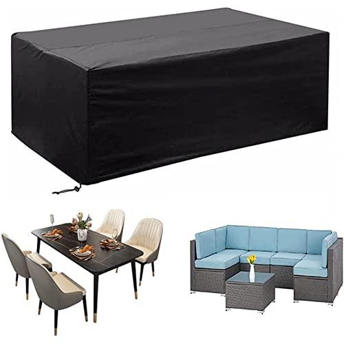 LIUXIN Copertura Perfetta per Mobili, Set di Sedie con Copertura Protettiva per Tavolo da Giardino Rettangolare, Copertura Resistente agli Agenti Atmosferici Oxford 420d Anti-UV