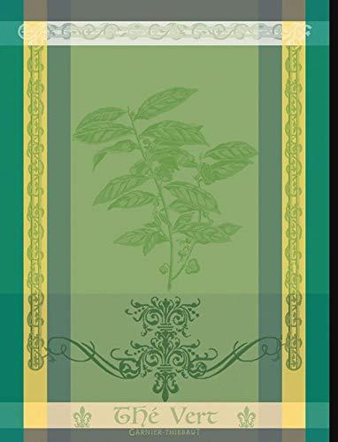 Garnier Thiebaut - Geschirrtuch, Trockentuch, Küchentuch - Brin de The Vert - 56 x 77 cm - 100% Baumwolle